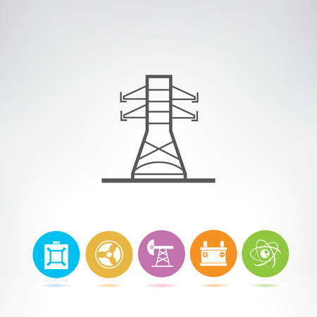 electricity and energy icons Illustration