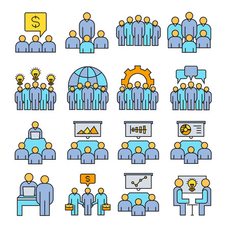 organization and management icons