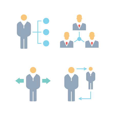 manpower and people management icons