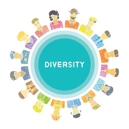 Personengruppe für Diversity-Konzept