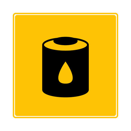 lubricator can symbol in yellow background