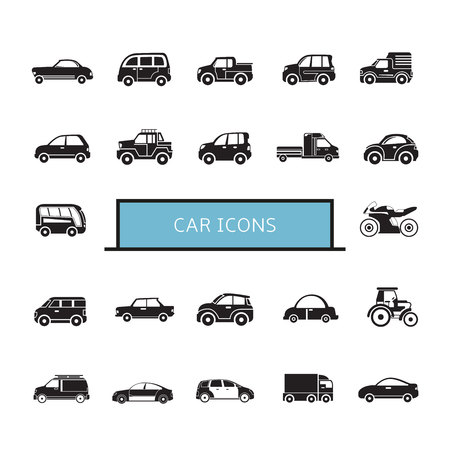 car icons set Illustration
