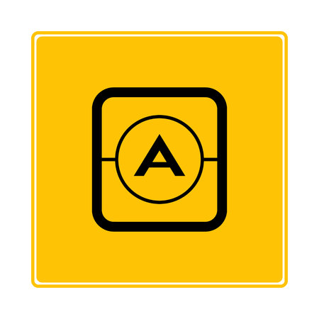 ampere symbol in yellow background Фото со стока - 119304361