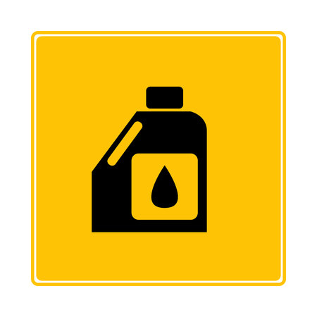 oil canister symbol in yellow background