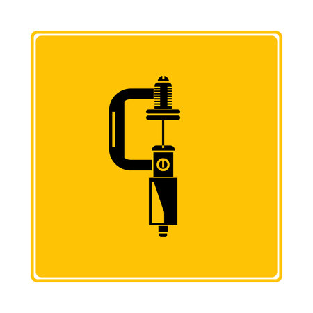 micrometer symbol in yellow background Illustration