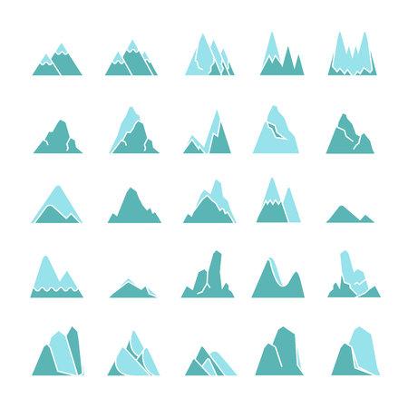 mountain icons set Ilustração