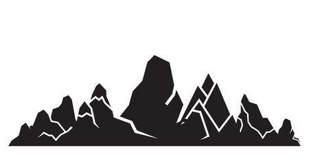 mountain silhouette on white background