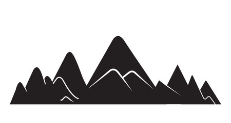 mountain silhouette on white background