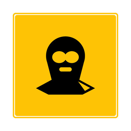thief on yellow background