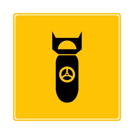 atomic bomb on yellow background