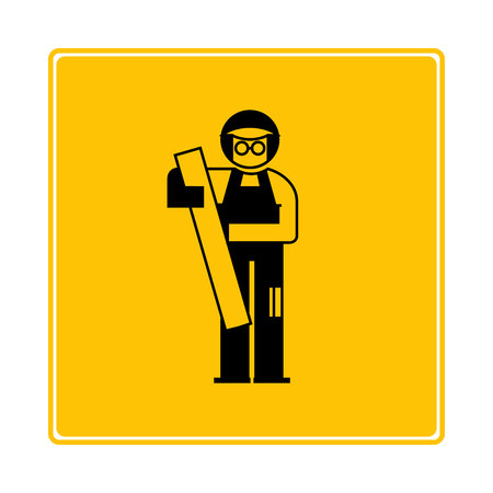 carpenter icon in yellow background