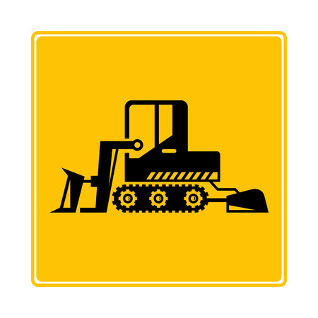 tractor icon in yellow background