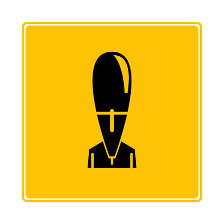 nuclear bomb, rocket bomb icon in yellow background 일러스트
