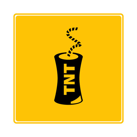 tnt icon in yellow background Illustration
