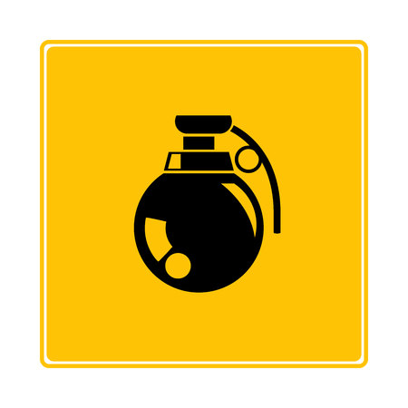 grenade icon in yellow background