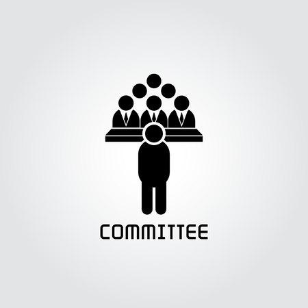 icono de comité, icono de conferencia de negocios