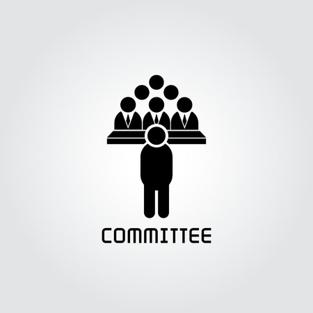 committee icon, business conference icon