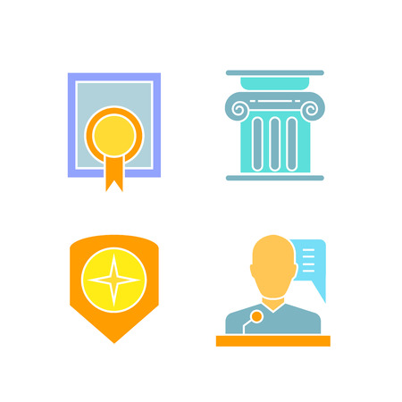 law and justice icons Illustration