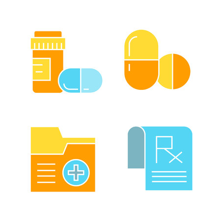 medicine and pharmaceutical icons