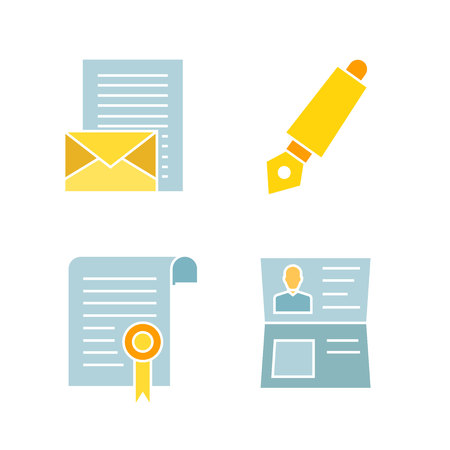 contract and document icons