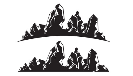 silhouette mountain range 向量圖像