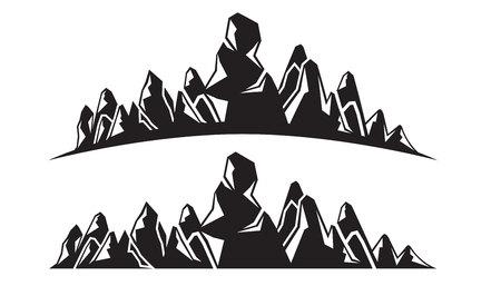 silhouette mountain range Иллюстрация