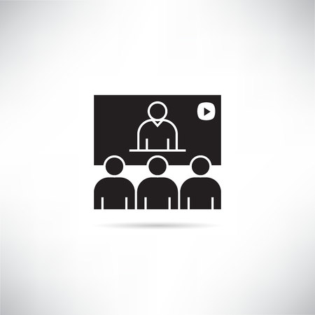 online conference, teleconference icon Illustration