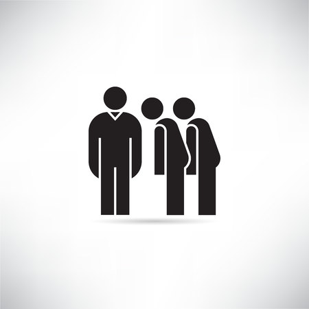 leader and employee icon