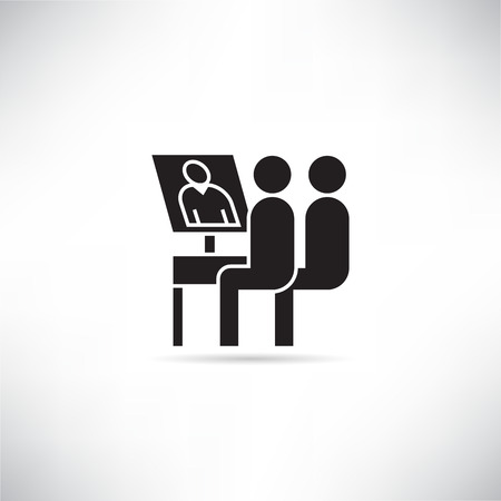 teleconference and online meeting icon