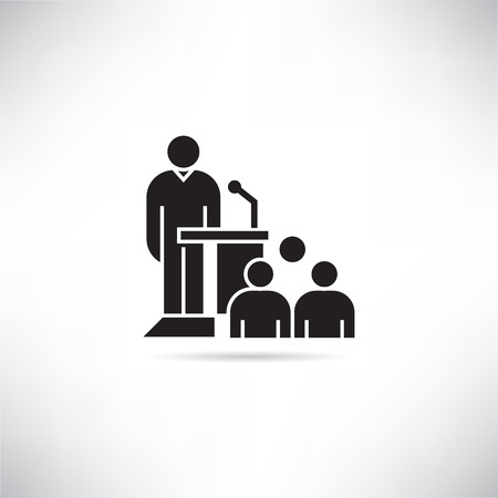 business conference icon Vektoros illusztráció