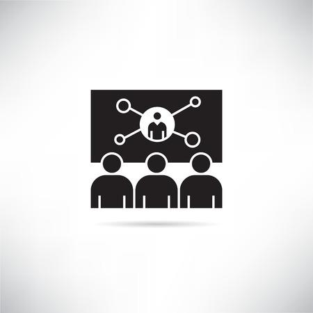 icône de conférence d'affaires