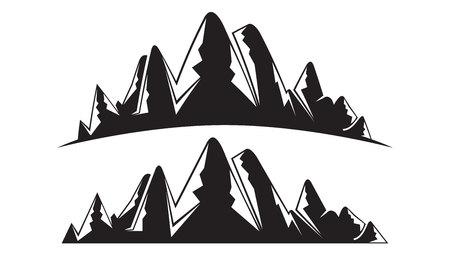 silhouette mountain landscape illustration 向量圖像