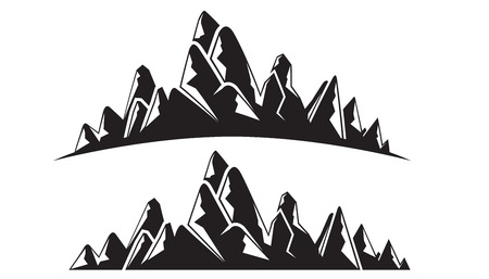 silhouette mountain landscape illustration 向量圖像