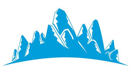blue mountain landscape illustration