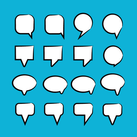 comic speech bubbles in blue background Stok Fotoğraf - 118472239