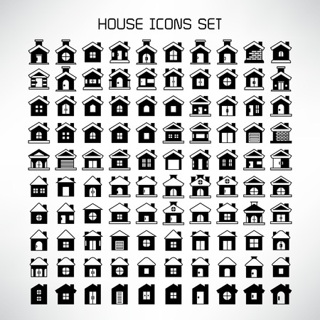 home and house icons set