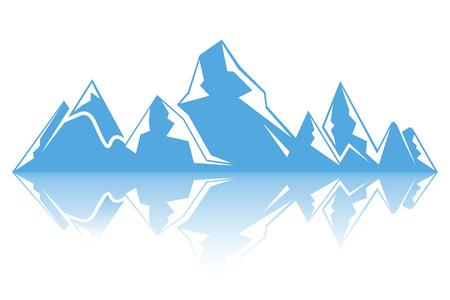 iceberg, blue mountain on white background