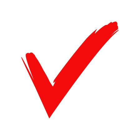 marca de verificación roja