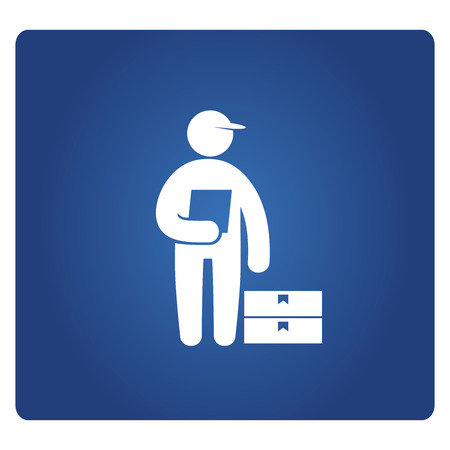 delivery service man Stock Illustratie