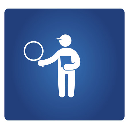 person holding magnifier and check list