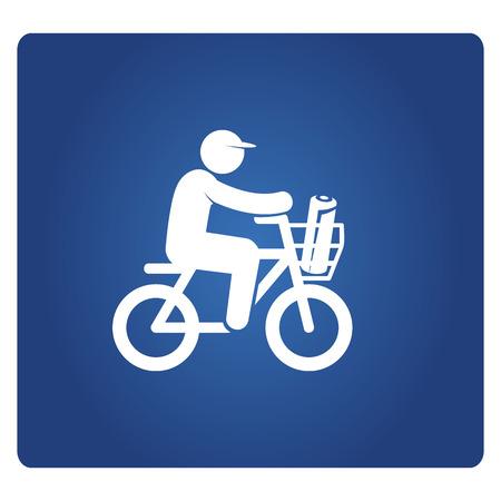 newspaper sender riding bicycle Stockfoto - 119708963