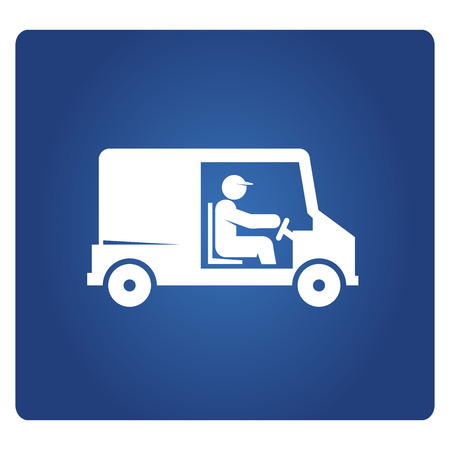 van driver icon in blue