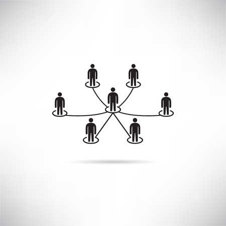 people network, people connection 일러스트