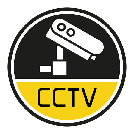 security camera label