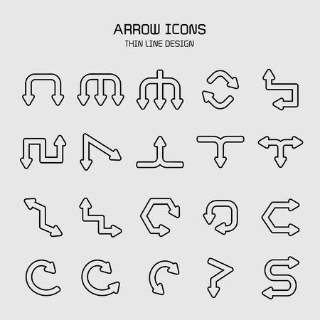 arrow icons set illustration