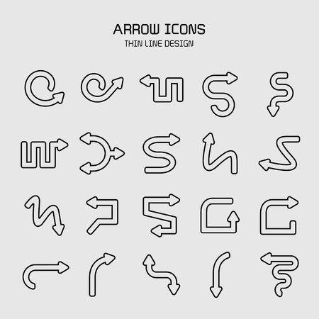 arrow icons set Stock Vector - 119945632