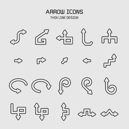arrow icons set Stock Vector - 119945634