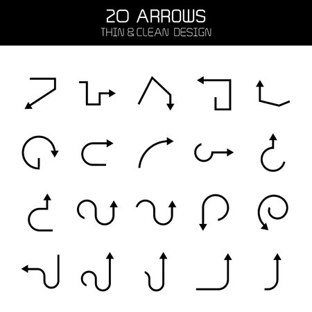 arrow icons set Stock Vector - 119945737