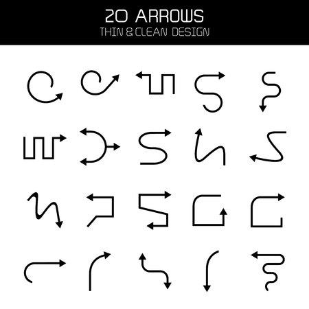 arrow icons set Stock Vector - 119945738