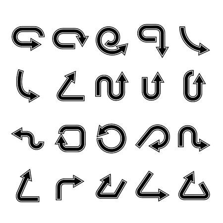 arrow icons set, cursor Stock Vector - 119945781